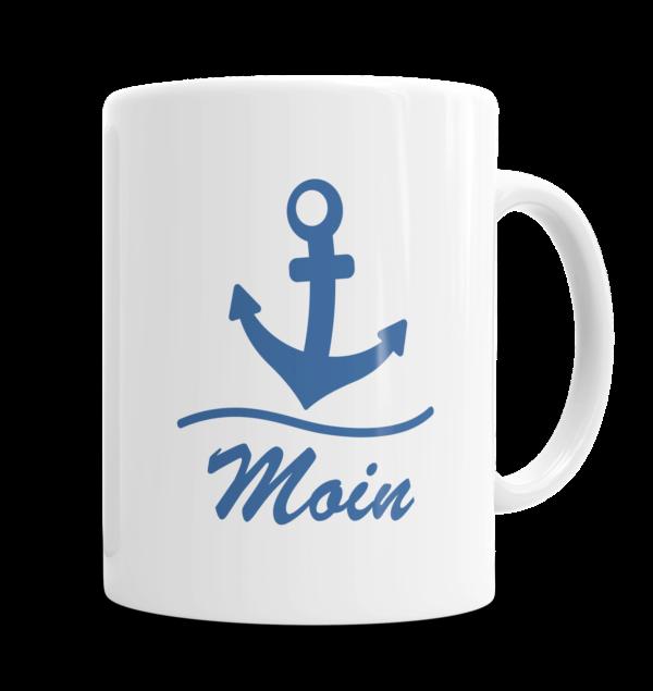 Sprüche Tasse Moin - mit Name