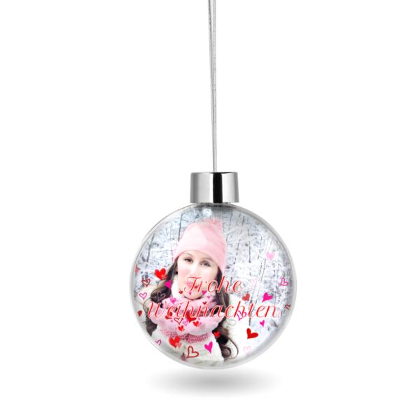 Weihnachtskugel mit Foto bedrucken
