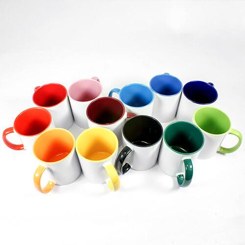 Bunte Tasse mit Foto und Namen bedrucken-10Farben