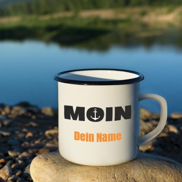 """Boots-Tasse """"MOIN"""" mit deinem Namen"""