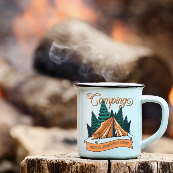 "Camping-Tasse ""Camper on Tour"" mit deinem Namen"