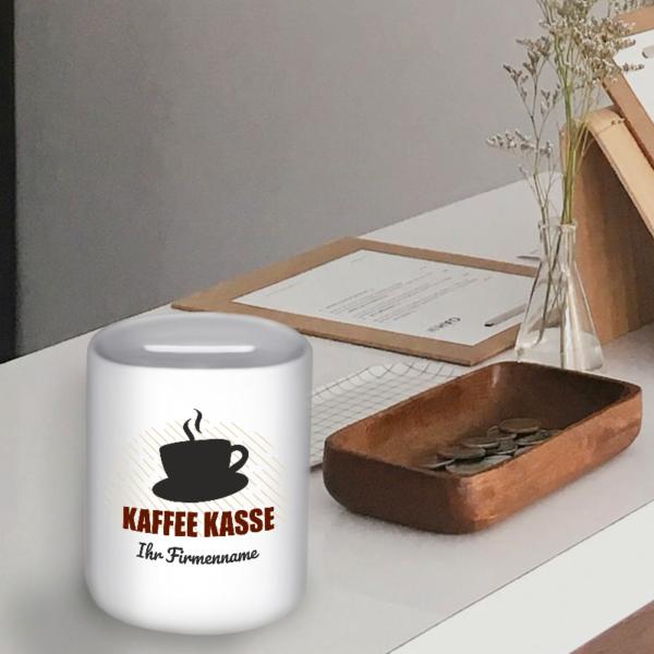 """Spardose """"Kaffeekasse"""" mit deinem Firmennamen"""