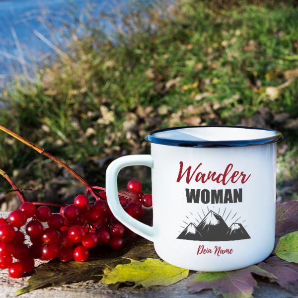 """Wander-Tasse """"Wander Woman"""" mit deinem Namen"""