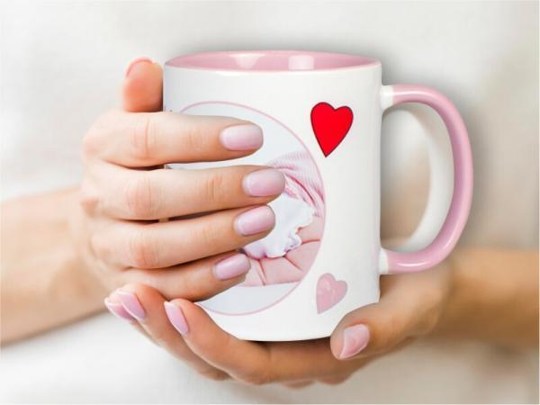 Tasse mit zwei Farben