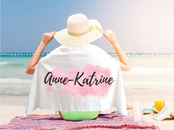 Strandtuch mit eigenem Design