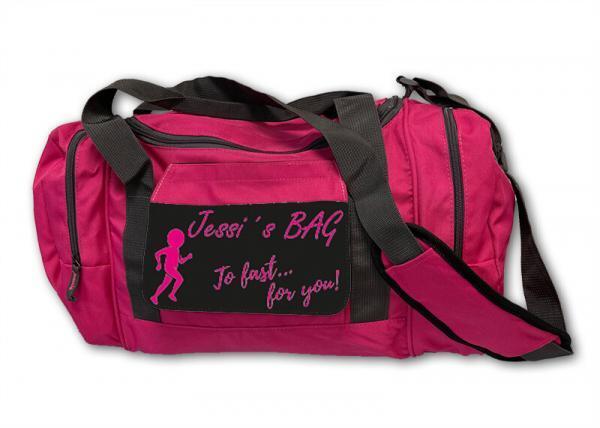 Sporttasche pink bedrucken