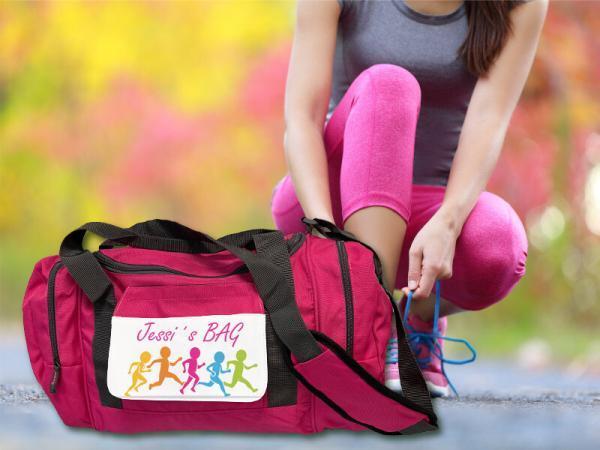 Sporttasche Fit mit Aufdruck